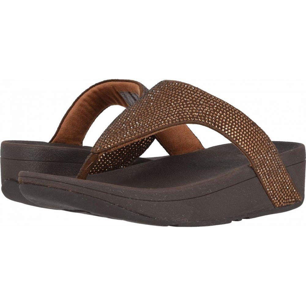 フィットフロップ FitFlop レディース ビーチサンダル シューズ・靴【Lottie Shimmer Crystal】Bronze/Chocolate Brown