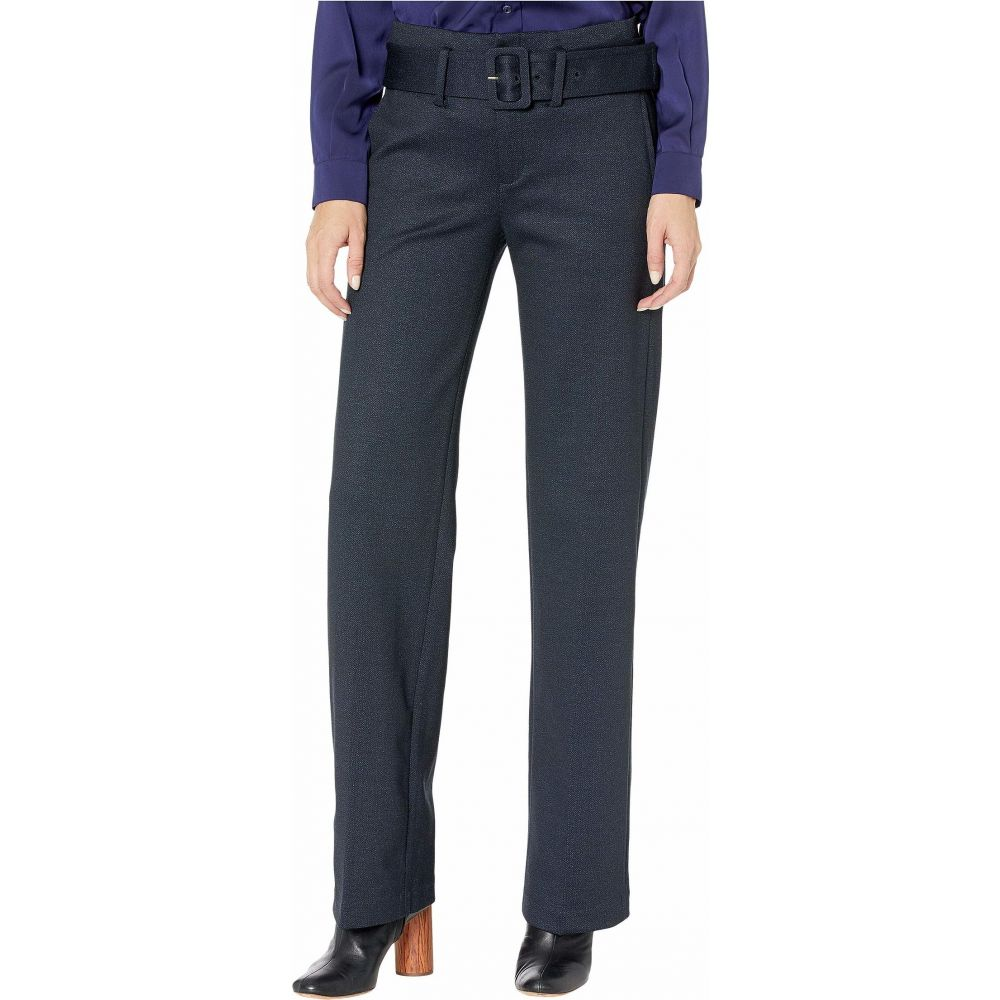 リバプール Liverpool レディース ボトムス・パンツ 【Taylor Trousers Belted High-Rise in Heathered Chevron Knit】Navy/Grey