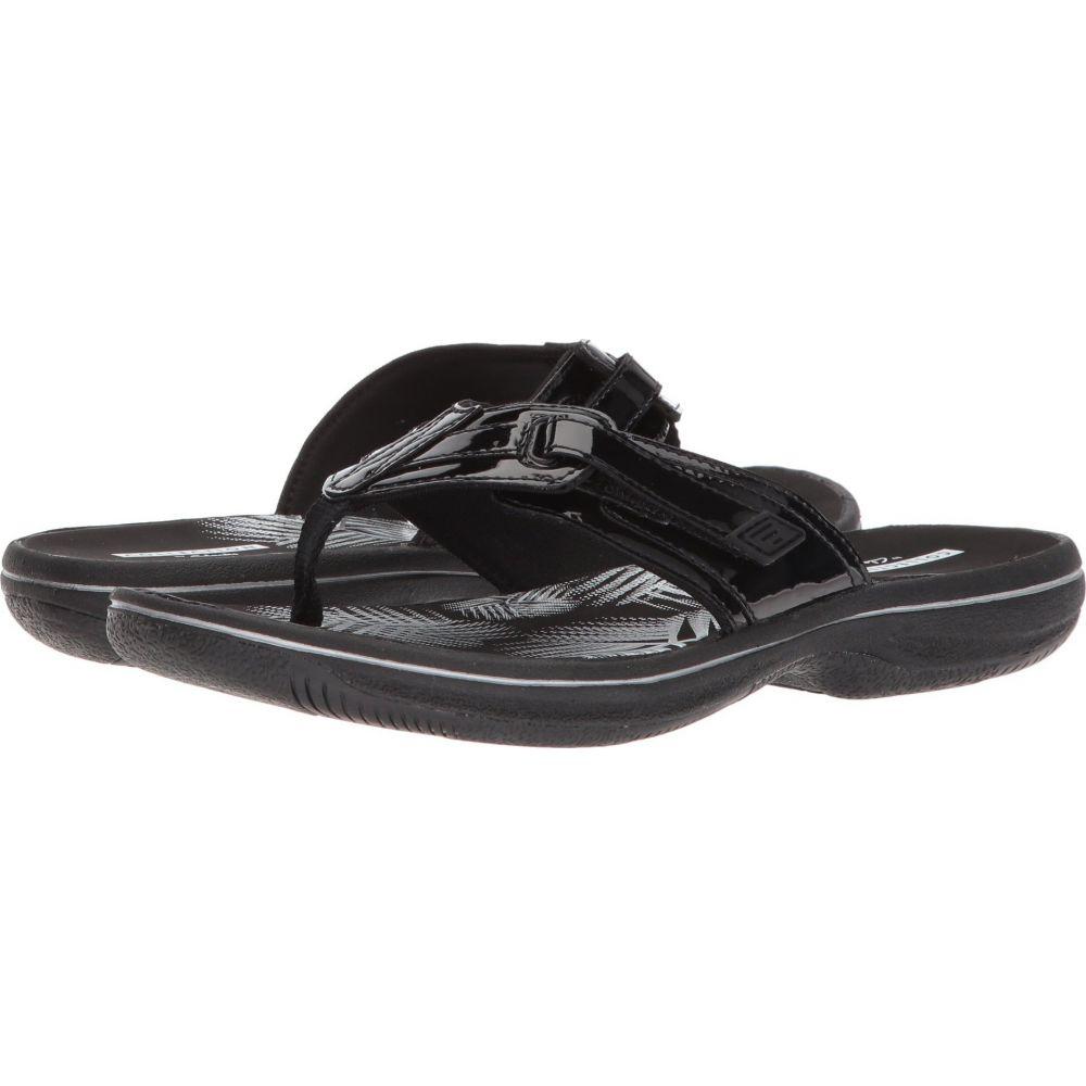 クラークス Clarks レディース ビーチサンダル シューズ・靴【Brinkley Jazz】Black Synthetic Patent