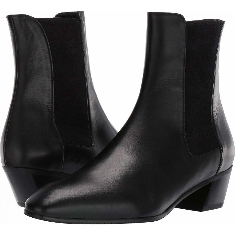 スチュアート ワイツマン Stuart Weitzman レディース ブーツ シューズ・靴【Cleora Leather Bootie】Black Smooth Calf/Sueded Elastic