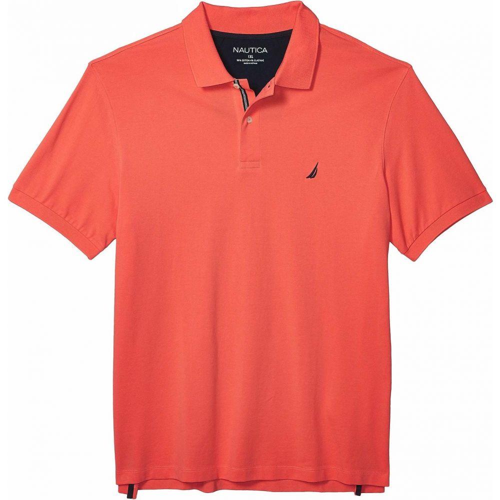 ノーティカ Nautica Big & Tall メンズ ポロシャツ 大きいサイズ トップス【Big & Tall Short Sleeve Solid Deck Shirt】Orange
