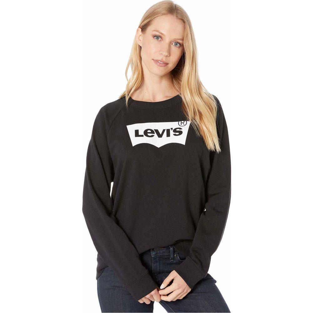 リーバイス Levi's Womens レディース トップスRelaxed Graphic Crew Housemark Crew Black0N8wZnOXPk