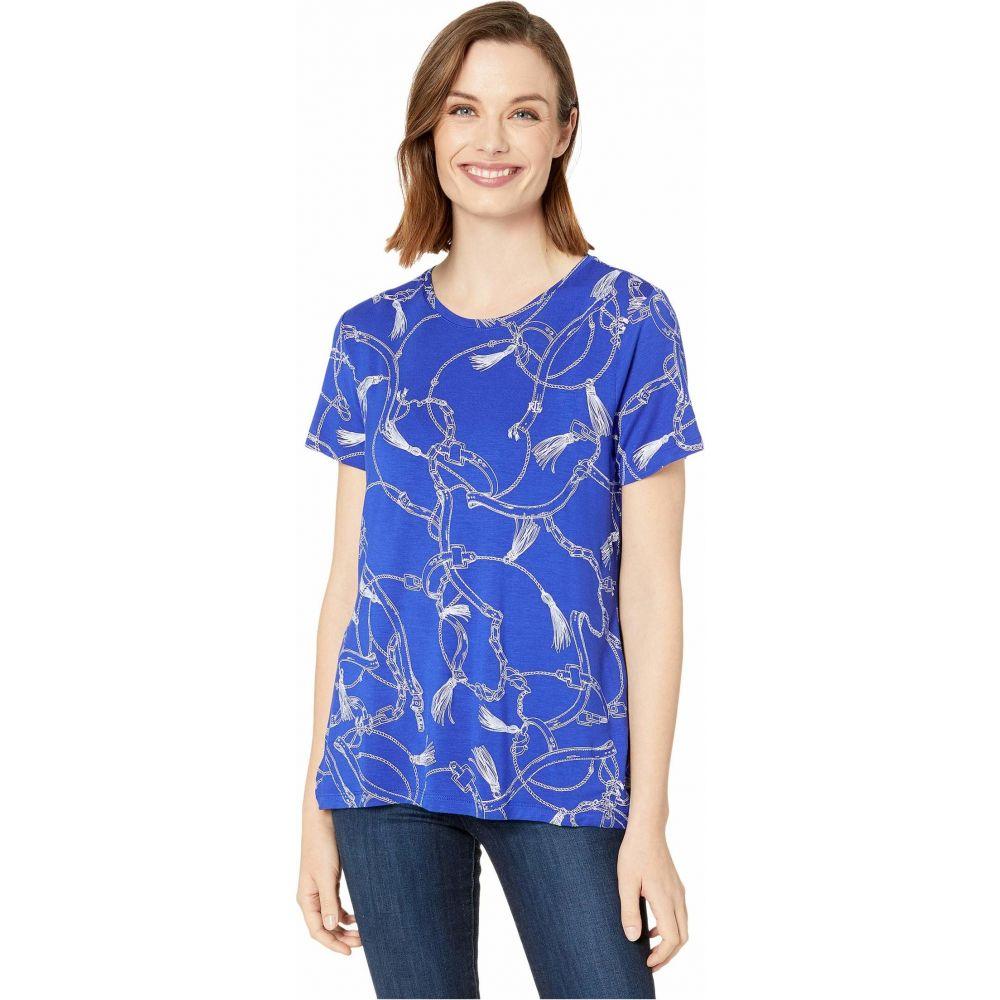 ラルフ ローレン LAUREN Ralph Lauren レディース Tシャツ トップス【Print Jersey Tee】Blue Glacier Multi