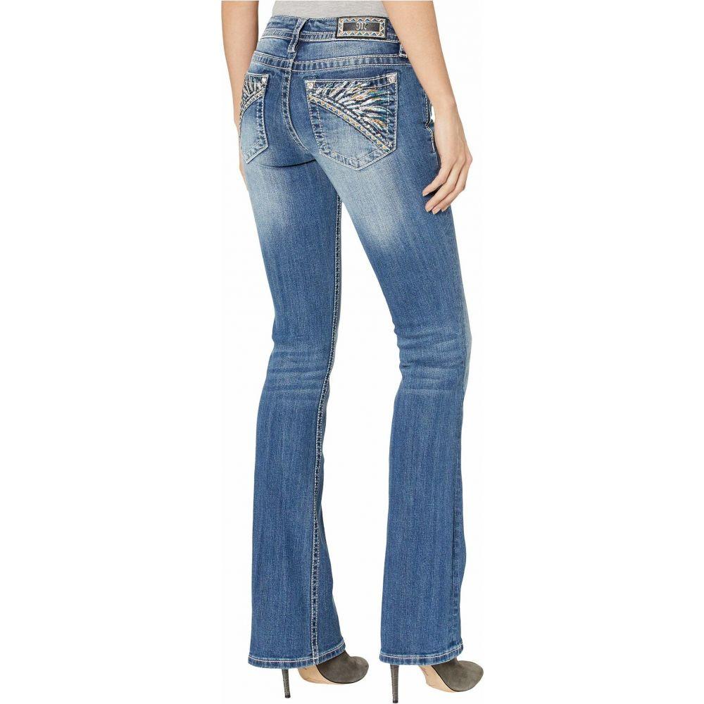 ミス ミー Miss Me レディース ジーンズ・デニム ブーツカット ボトムス・パンツ【Feather Headdress Bootcut Jeans in Dark Blue】Dark Blue