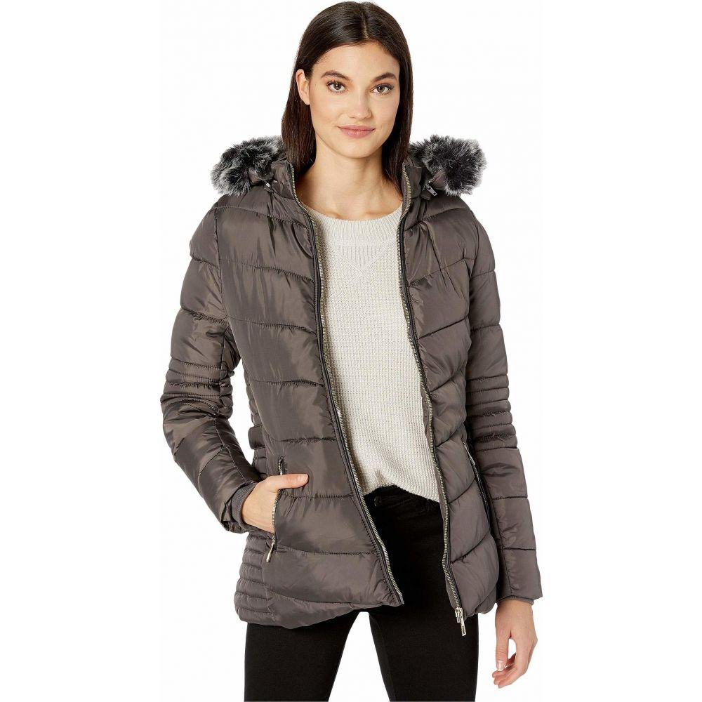 YMI スノビッシュ YMI Snobbish レディース ダウン・中綿ジャケット アウター【Polyfill Puffer Jacket with Faux Fur Trim Hood and Pop Zippers】Charcoal