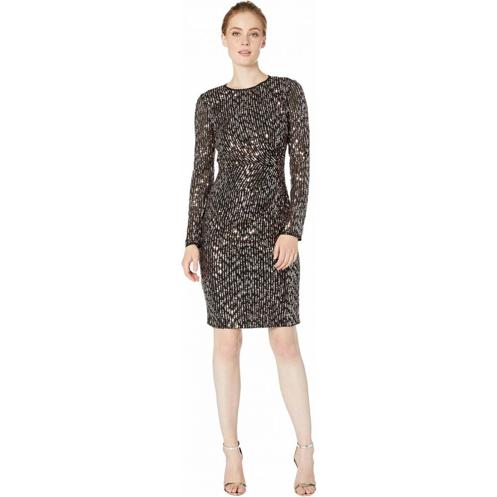 マギーロンドン Maggy London レディース ワンピース ワンピース・ドレス【Sequin Sheath Dress】Black/Rose