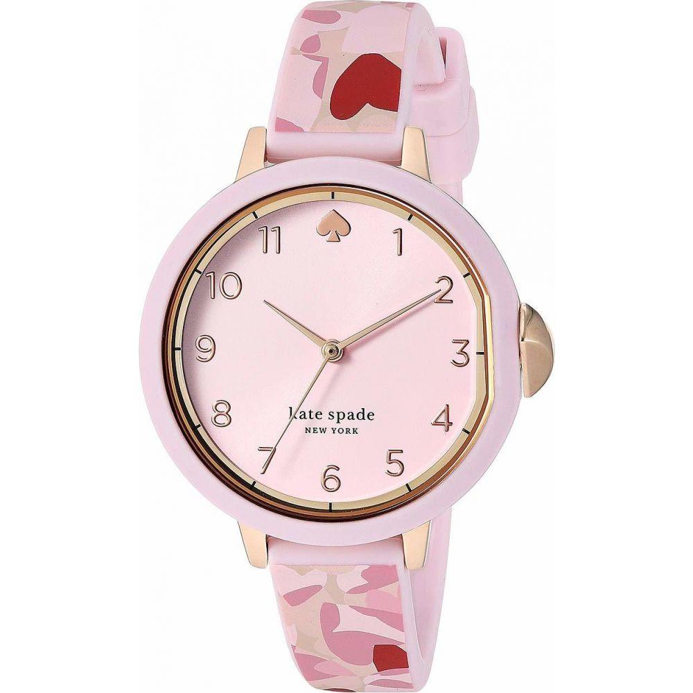 ケイト スペード Kate Spade New York レディース 腕時計 【Park Row Heart Silicone Watch - KSW1567】Pink