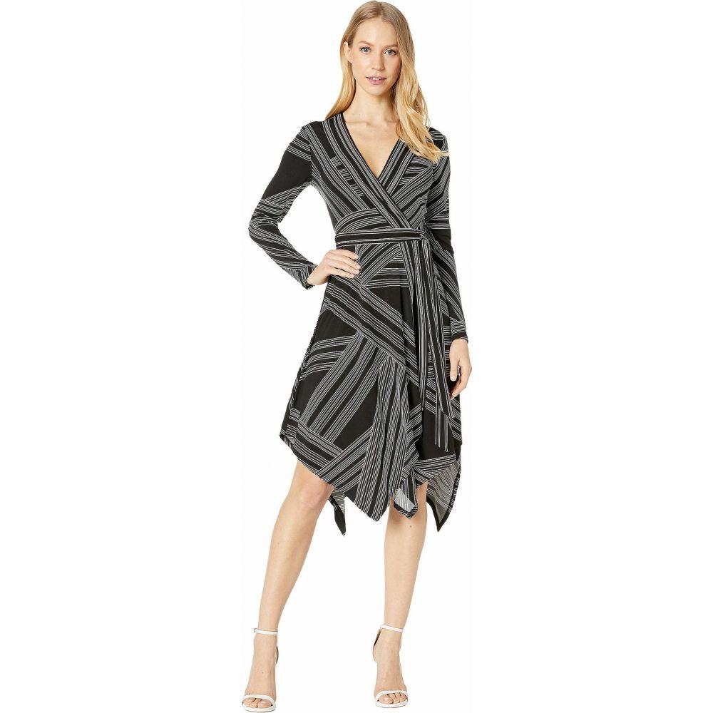 ビーシービージーマックスアズリア BCBGMAXAZRIA レディース ワンピース ラップドレス ワンピース・ドレス【Wrap Dress】Optic White/Straight Stripe