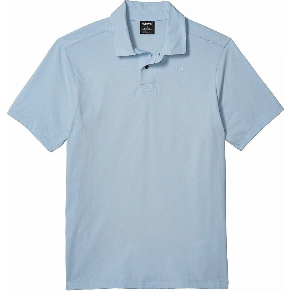 ハーレー Hurley メンズ ポロシャツ 半袖 トップス【Dri-Fit Harvey Solid Short Sleeve Polo】Light Armory Blue