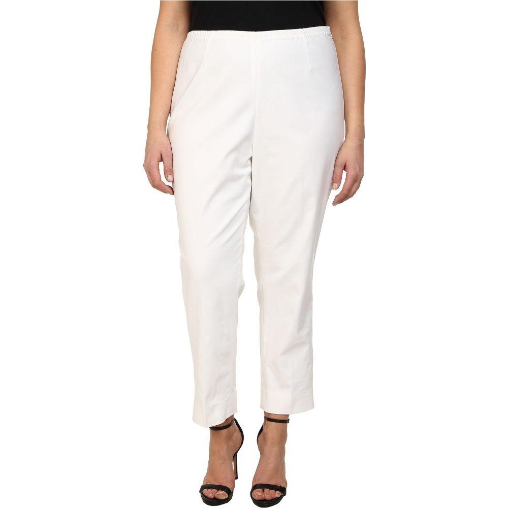 ニックゾー NIC+ZOE レディース クロップド アンクル 大きいサイズ ボトムス・パンツ【Plus Size Perfect Side Zip Ankle Pants】Paper White