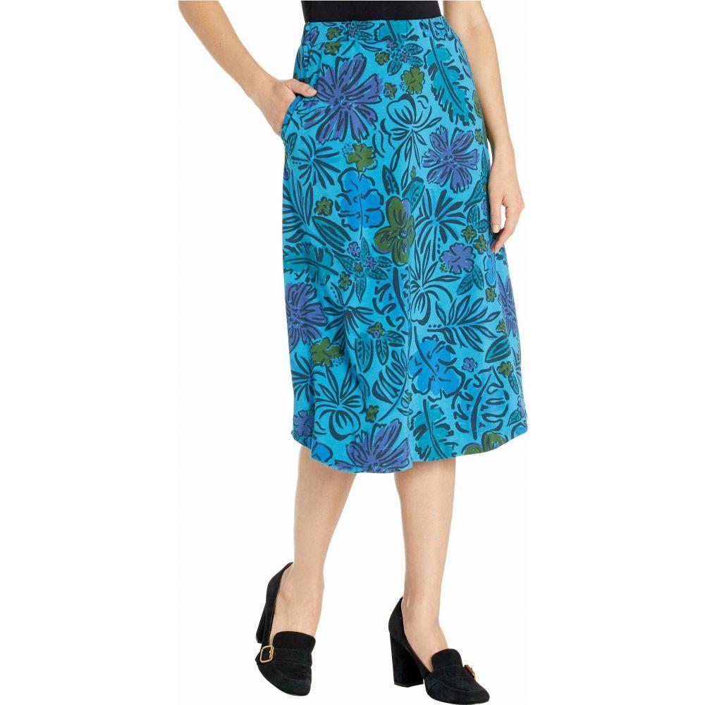 フレッシュプロデュース Fresh Produce レディース ロング・マキシ丈スカート スカート【Sketched Flora Long Avery Skirt】Seaport Blue