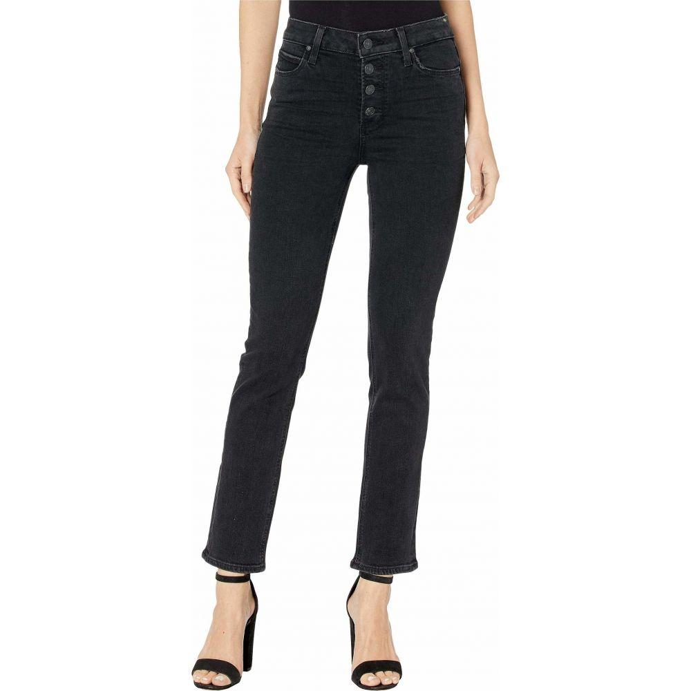 ペイジ Paige レディース ジーンズ・デニム ボトムス・パンツ【Hoxton Slim Jeans w/ Exposed Button Fly in Starlit Black】Starlit Black
