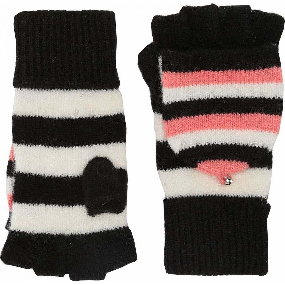 ケイト スペード Kate Spade New York レディース 手袋・グローブ 【Heritage Stripe Pop Top Gloves】Black