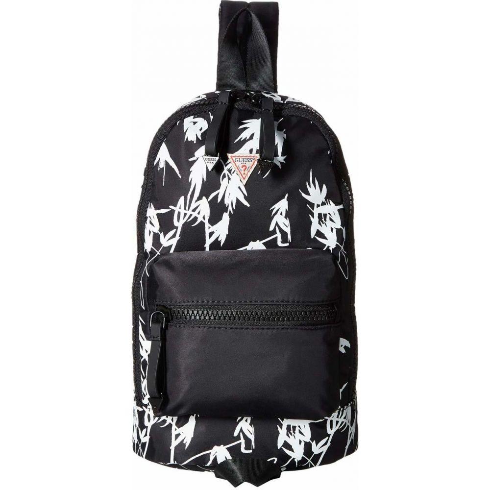 ゲス GUESS ユニセックス バックパック・リュック バッグ【Originals Mini Backpack】Black Multi