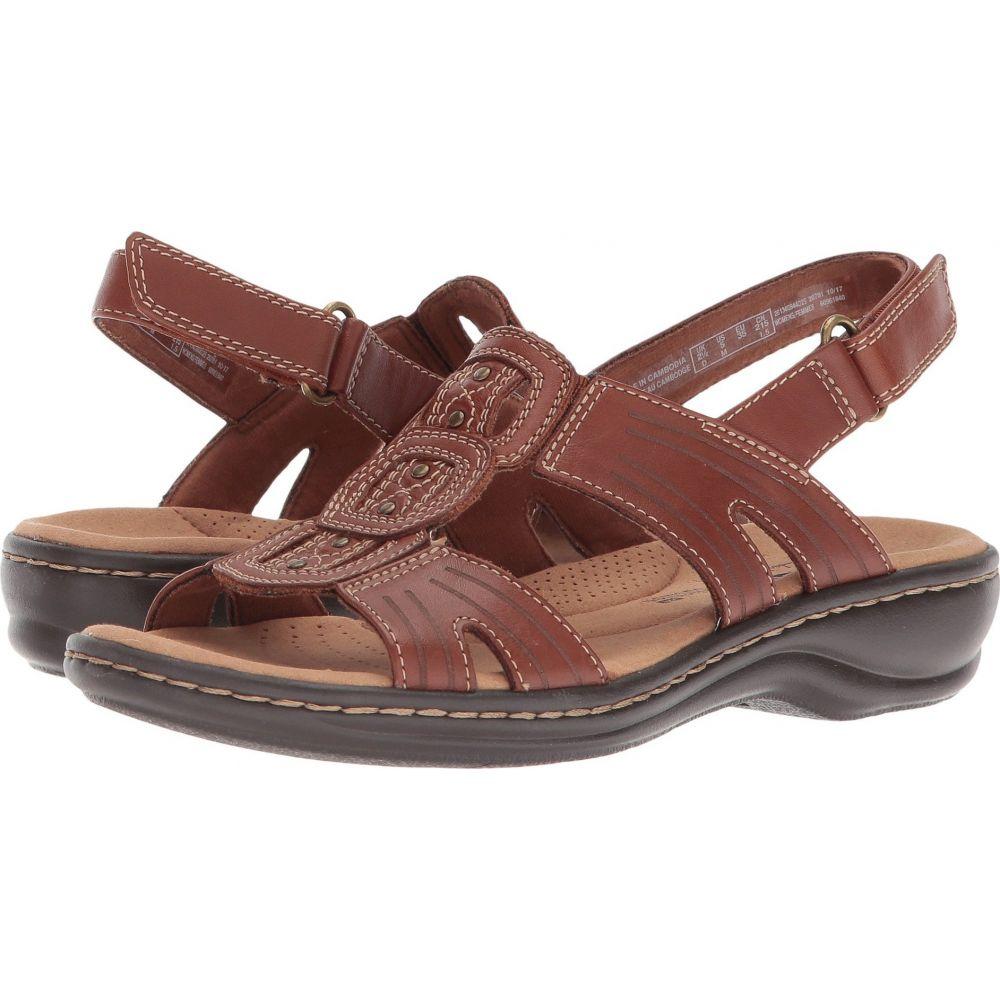 クラークス Clarks レディース サンダル・ミュール シューズ・靴【Leisa Vine】Dark Tan Leather