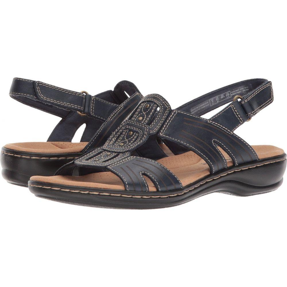 クラークス Clarks レディース サンダル・ミュール シューズ・靴【Leisa Vine】Navy Leather