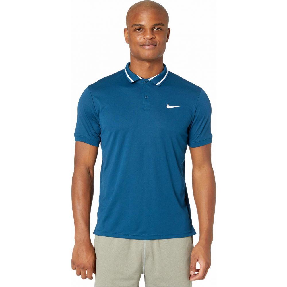 ナイキ Nike メンズ ポロシャツ トップス【Court Dry Polo Pique】Valerian Blue/White/White