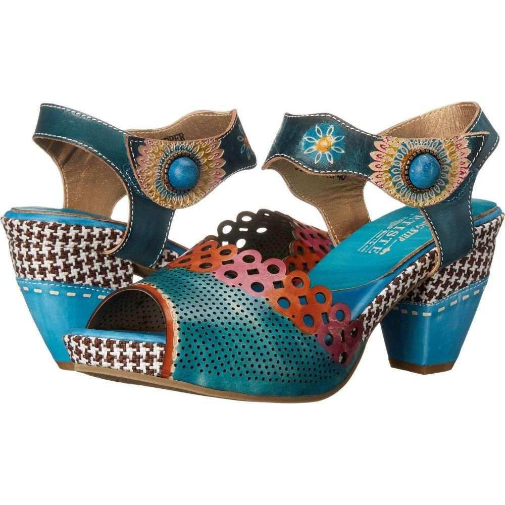 スプリングステップ L'Artiste by Spring Step レディース サンダル・ミュール シューズ・靴【Jive】Sky Blue