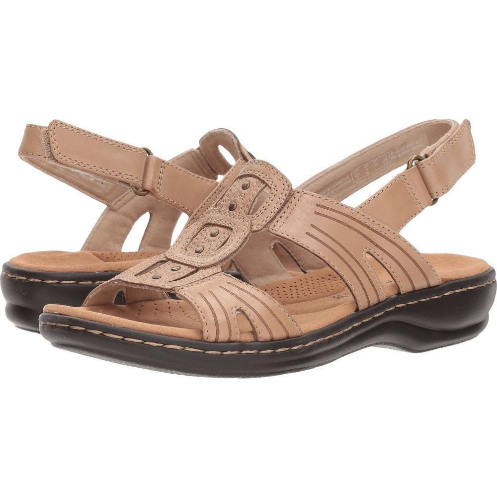 クラークス Clarks レディース サンダル・ミュール シューズ・靴【Leisa Vine】Sand Leather