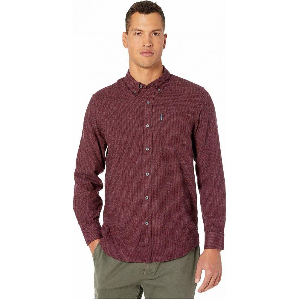 ベンシャーマン Ben Sherman メンズ シャツ トップス【Long Sleeve Brushed Dogtooth Shirt】Wine