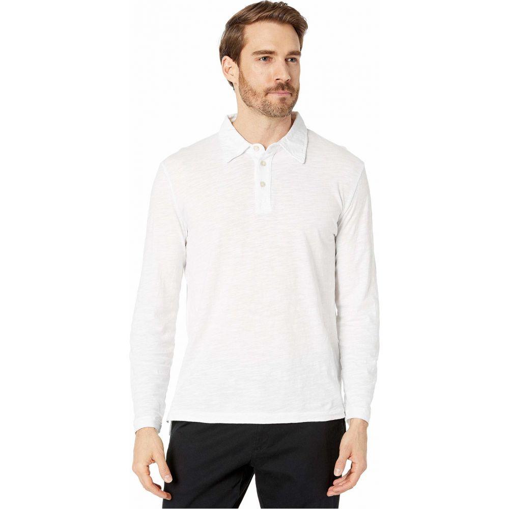 モドオードック Mod-o-doc メンズ ポロシャツ トップス【Salt Point Long Sleeve Slub Jersey Polo】White
