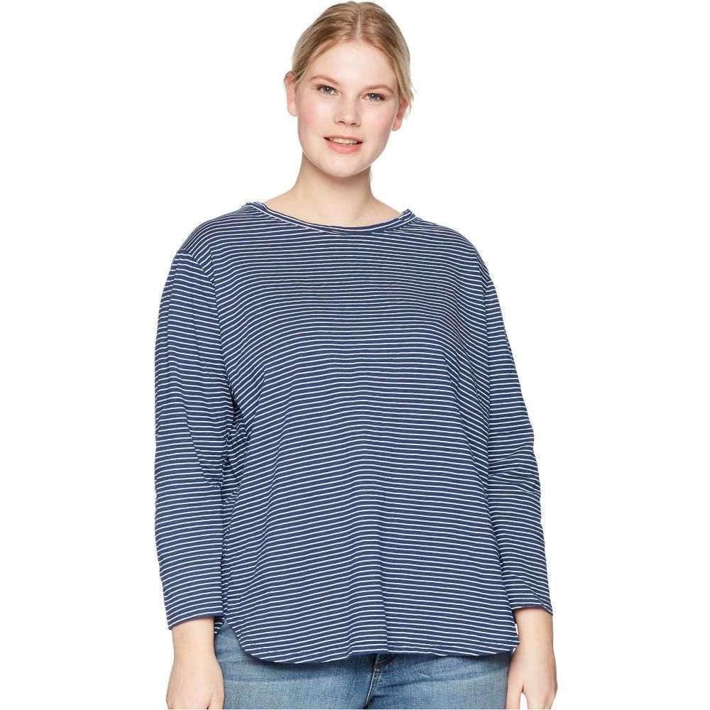 フレッシュプロデュース Fresh Produce レディース Tシャツ 大きいサイズ トップス【Plus Size Pinstripe Catalina Top】Moonlight Blue