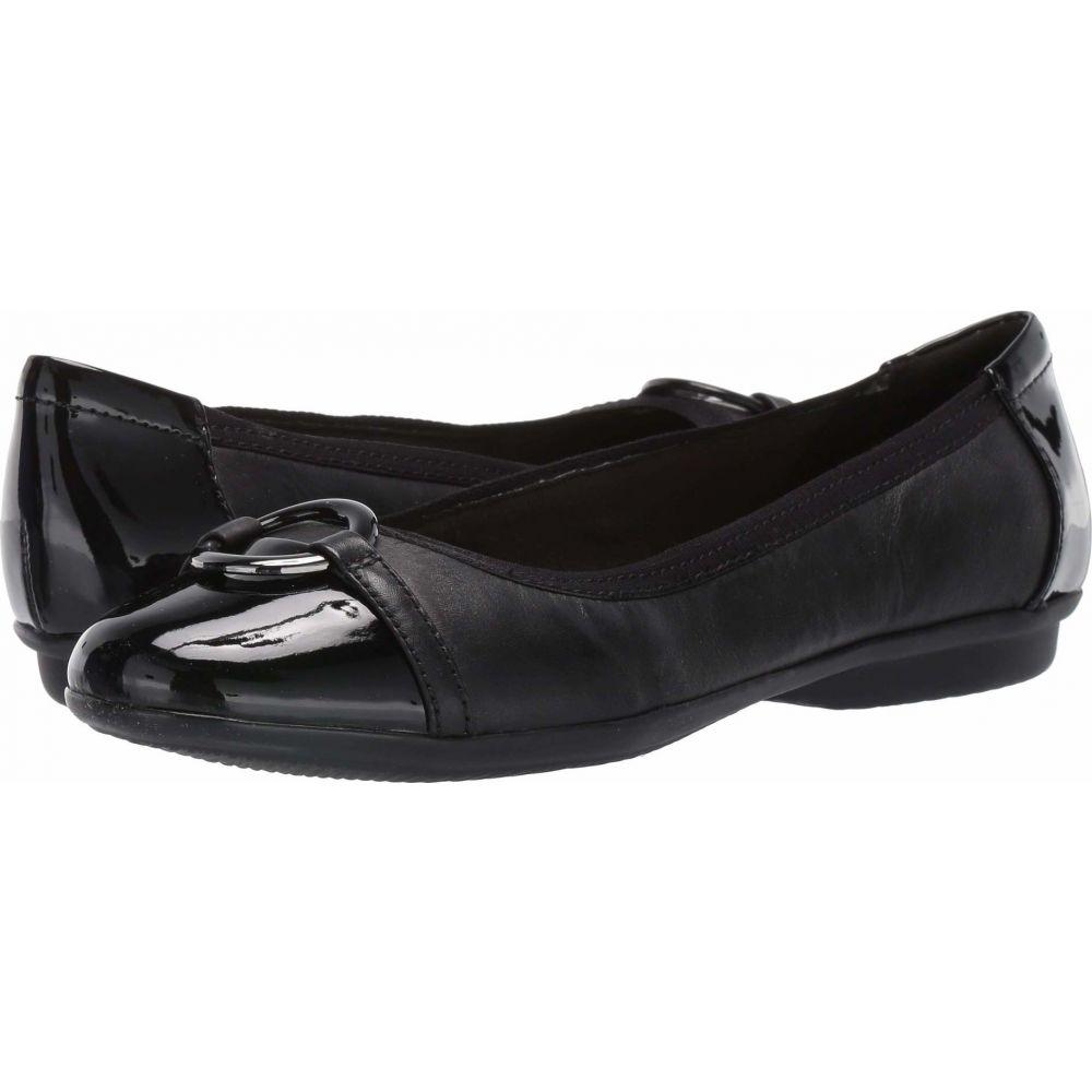 クラークス Clarks レディース スリッポン・フラット シューズ・靴【Gracelin Wind】Black Leather/Synthetic
