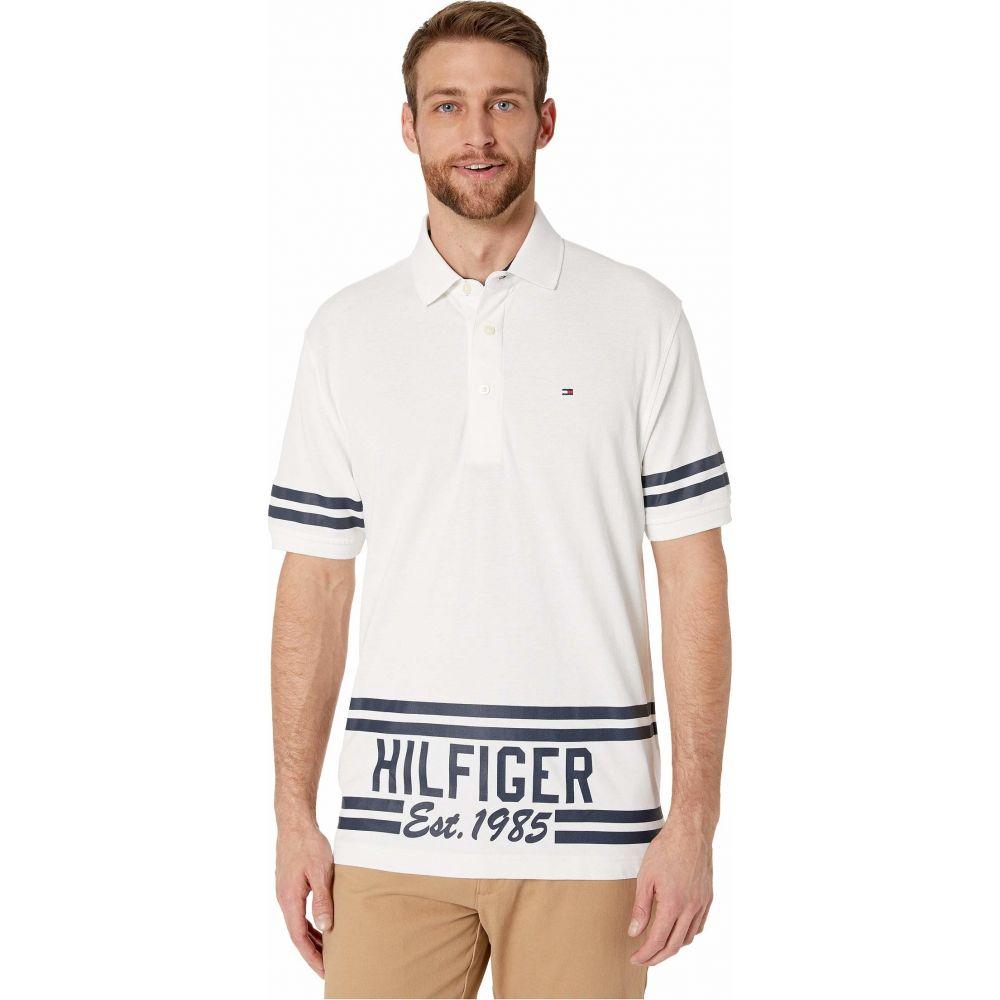トミー ヒルフィガー Tommy Hilfiger Adaptive メンズ ポロシャツ トップス【Custom Fit 1985 Polo】Bright White