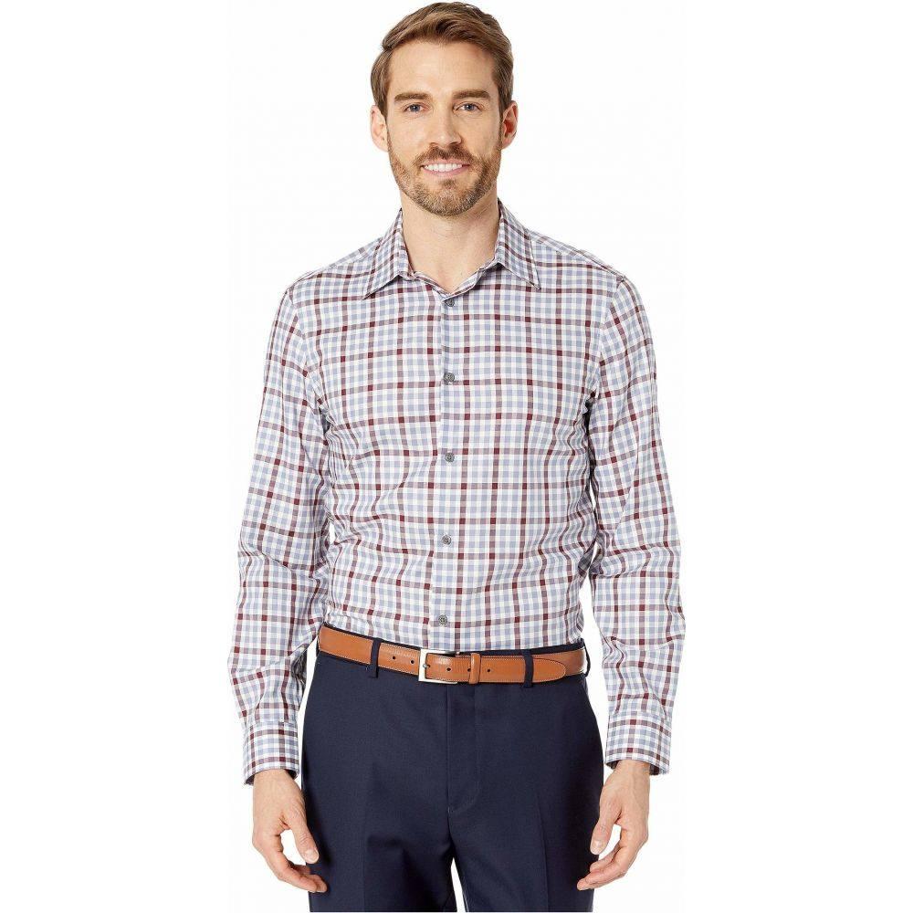 ペリー エリス Perry Ellis メンズ シャツ トップス【Slim Fit Multi Check Shirt】Country Blue