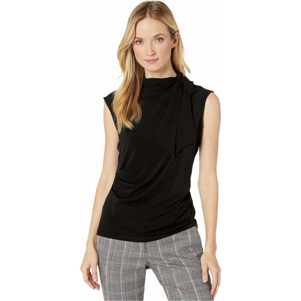 カルバンクライン Calvin Klein レディース ノースリーブ トップス【Sleeveless Top with Chiffon Tie】Black