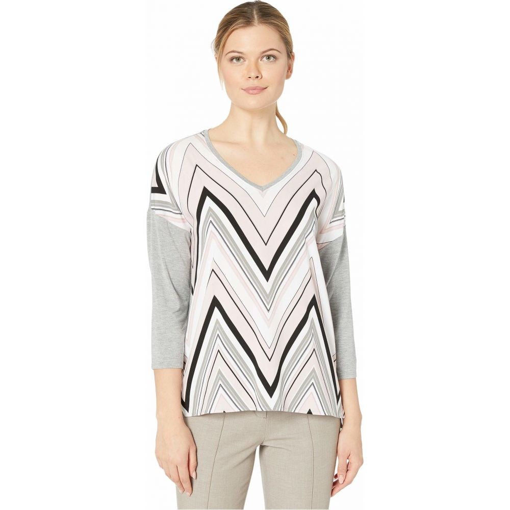 トリバル Tribal レディース 長袖Tシャツ 七分袖 トップス【3/4 Sleeve Woven Front Top】Porcelain