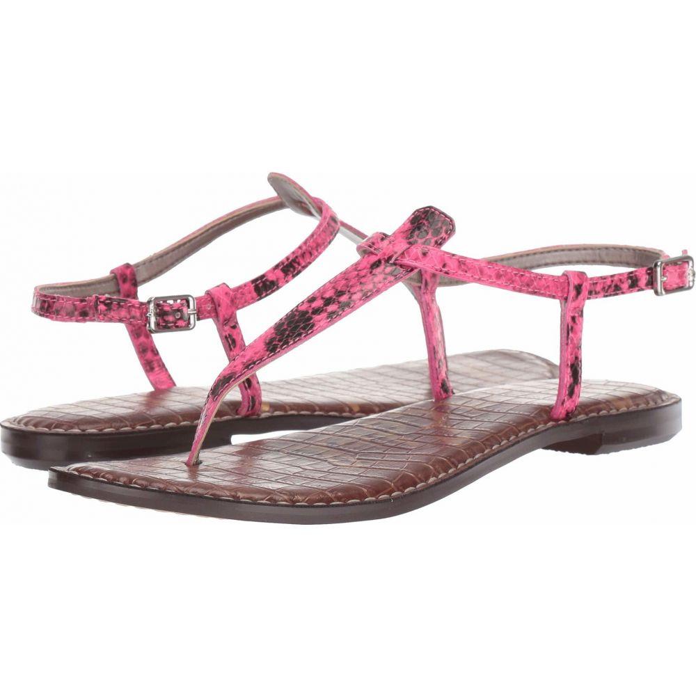 サム エデルマン Sam Edelman レディース サンダル・ミュール シューズ・靴【Gigi】Neon Pink Snake Print Leather
