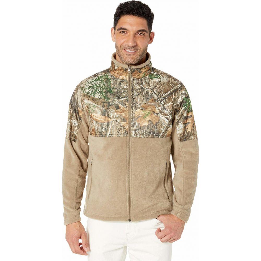 コロンビア Columbia メンズ フリース トップス【PHG Fleece Overlay Jacket】Flax/Real Tree Edge