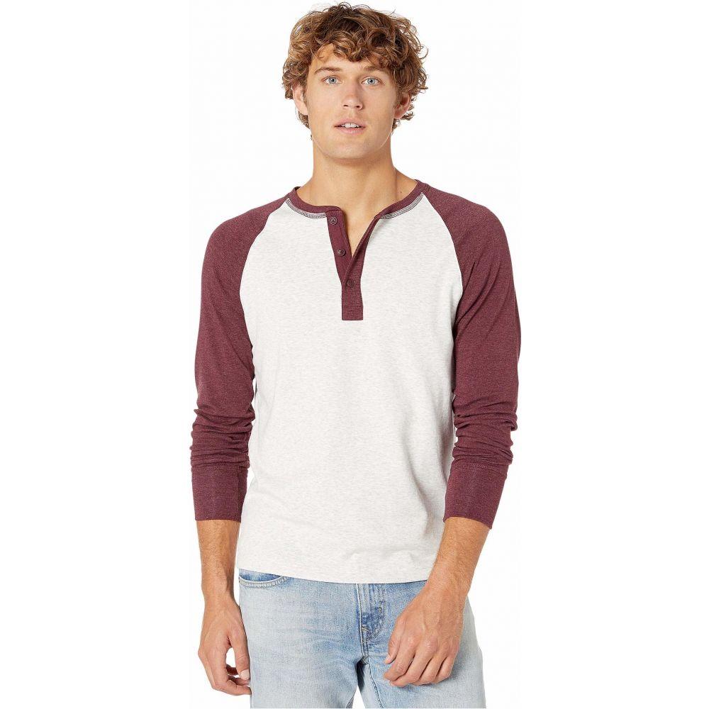 ノーマルブランド The Normal Brand メンズ 長袖Tシャツ ヘンリーシャツ トップス【Long Sleeve Retro Puremeso Henley】Stone/Wine