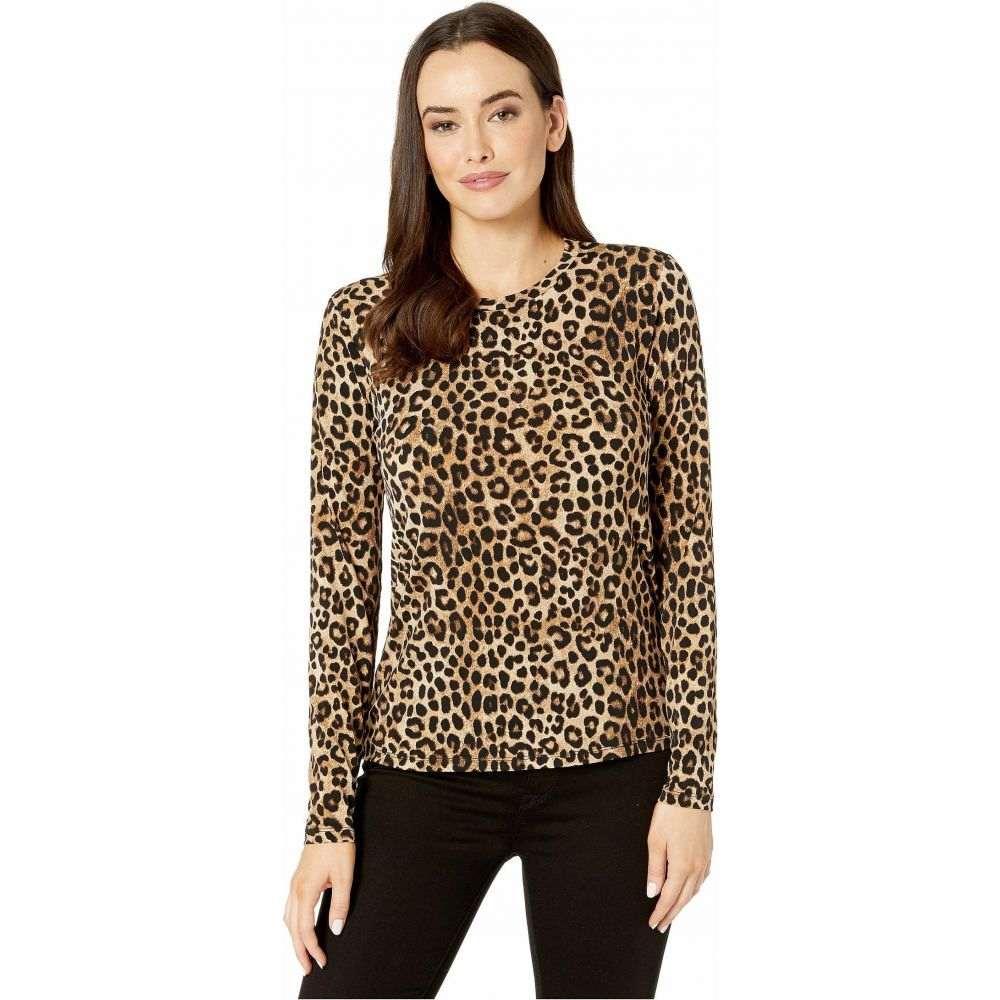 マイケル コース MICHAEL Michael Kors レディース 長袖Tシャツ トップス【Mega Cheetah Long Sleeve Top】Dark Camel