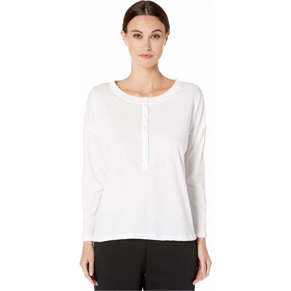 メゾン ド ソワール Maison Du Soir レディース Tシャツ ヘンリーシャツ トップス【Henley Top】White