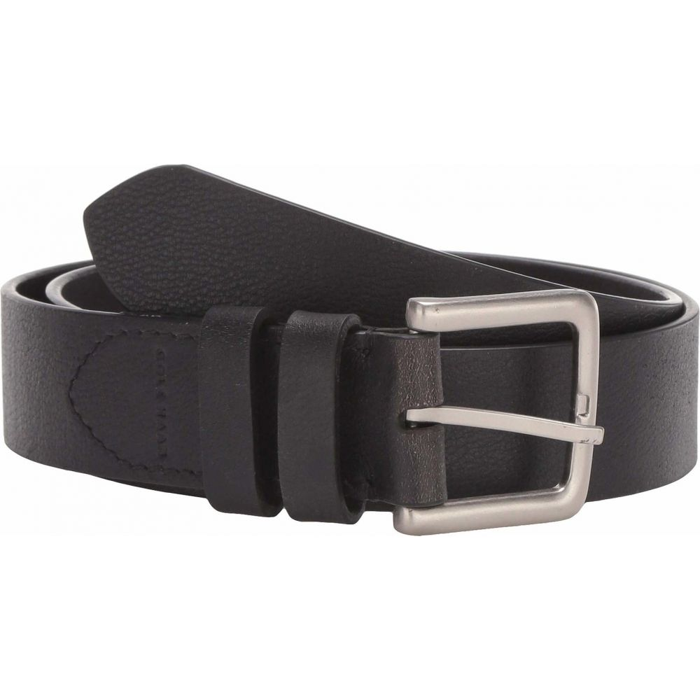 コールハーン Cole Haan メンズ ベルト 【35 mm Leather Strap with Cut Edge & Double Loop】Black