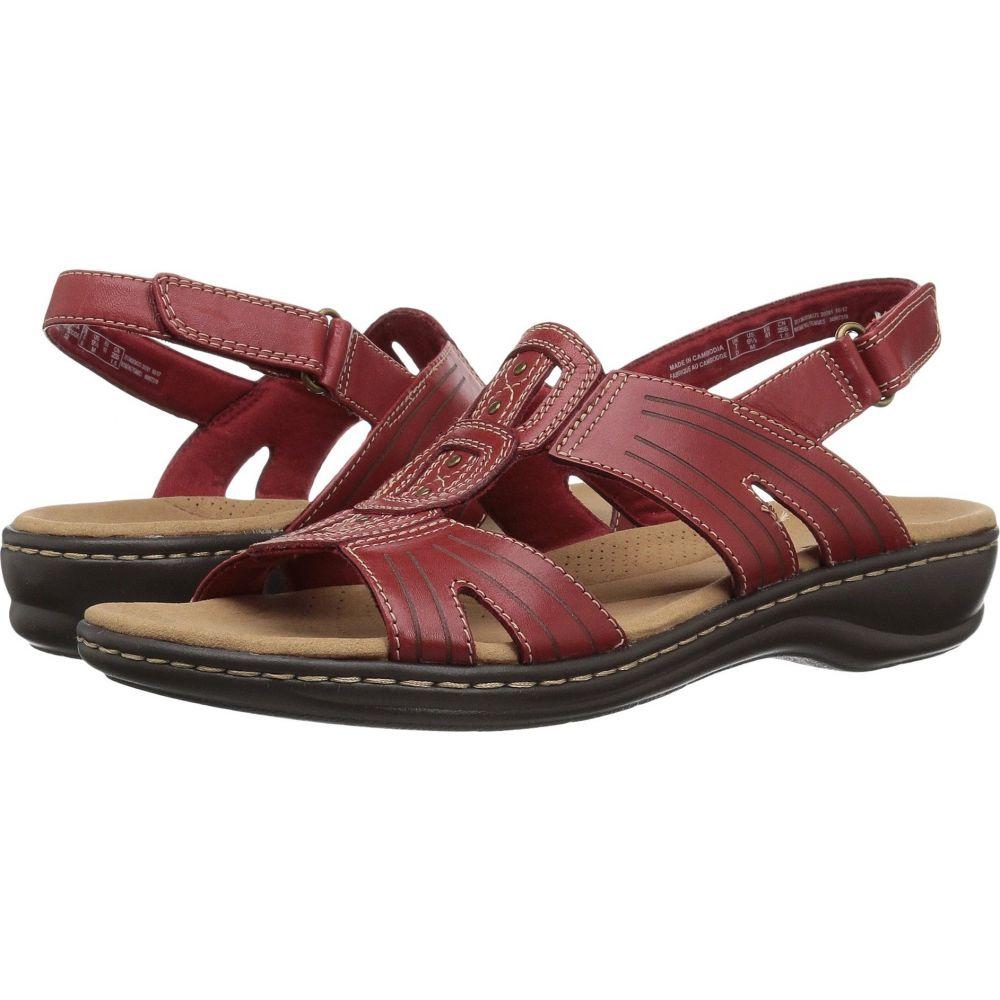 クラークス Clarks レディース サンダル・ミュール シューズ・靴【Leisa Vine】Red Leather