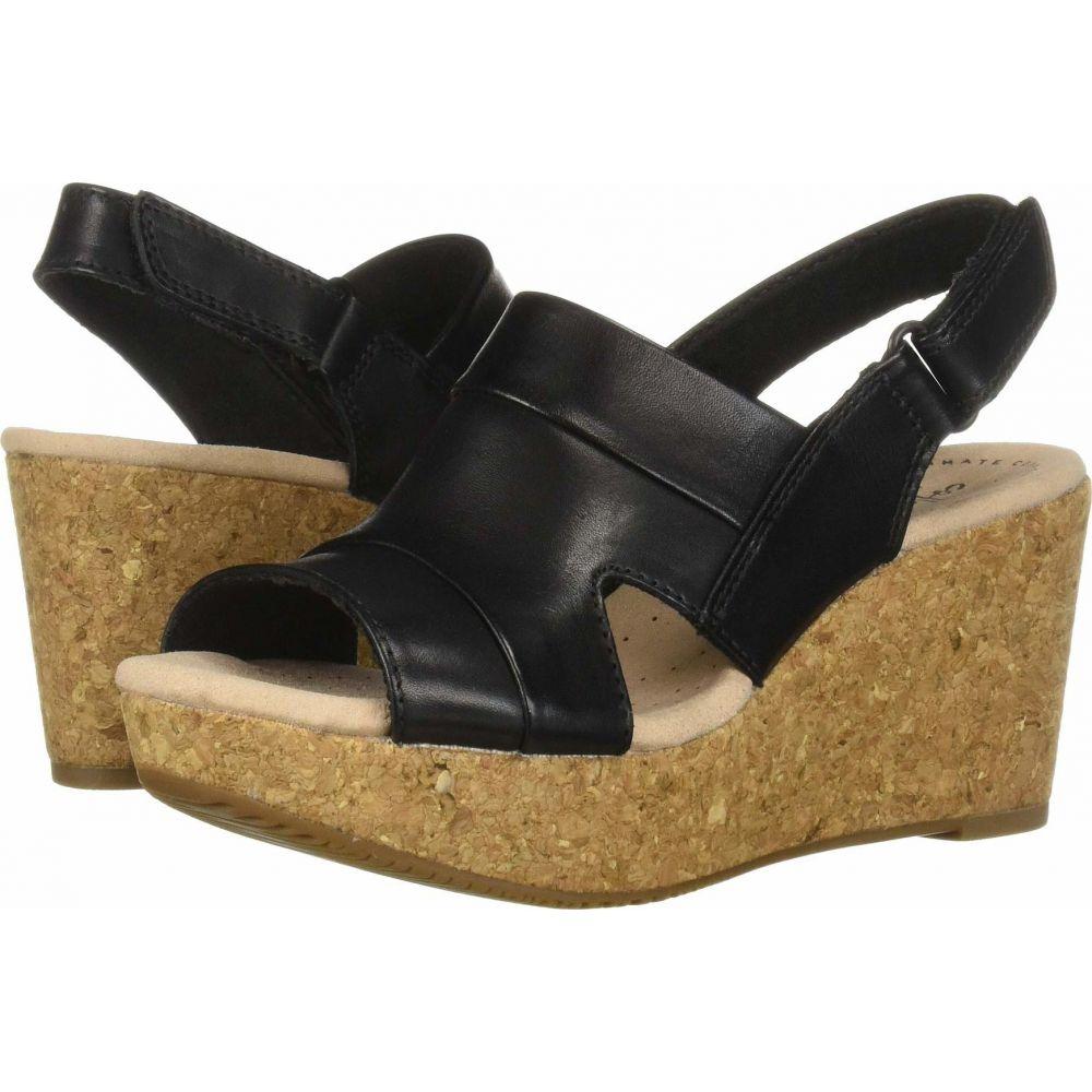 クラークス Clarks レディース サンダル・ミュール シューズ・靴【Annadel Ivory】Black Leather