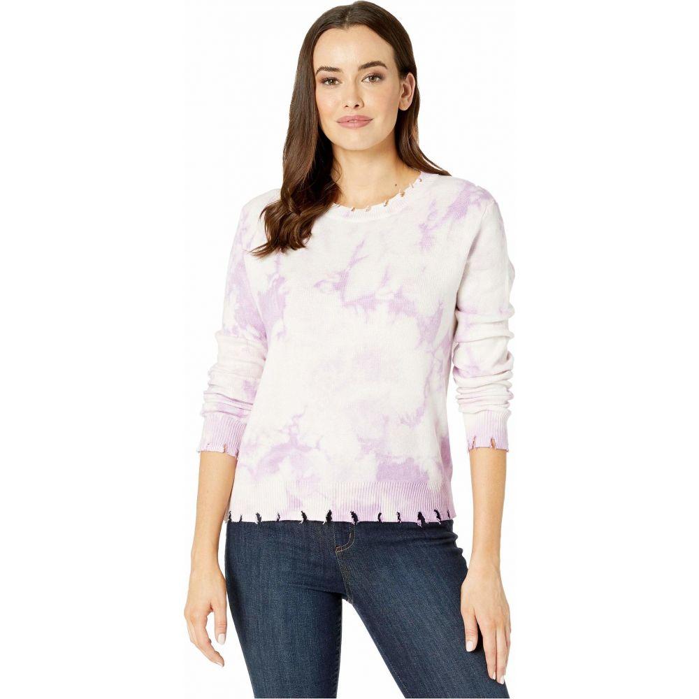 アメリカンローズ American Rose レディース ニット・セーター トップス【Lyla Long Sleeve Distressed Tie-Dye Sweater】Lavender