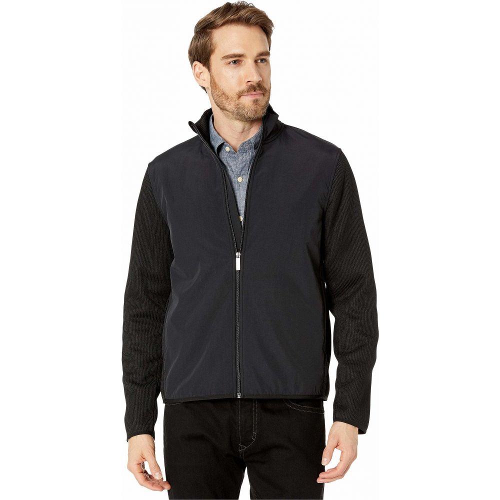 ペリー エリス Perry Ellis メンズ フリース トップス【Solid Stretch Full Zip Fleece Long Sleeve Shirt】Black
