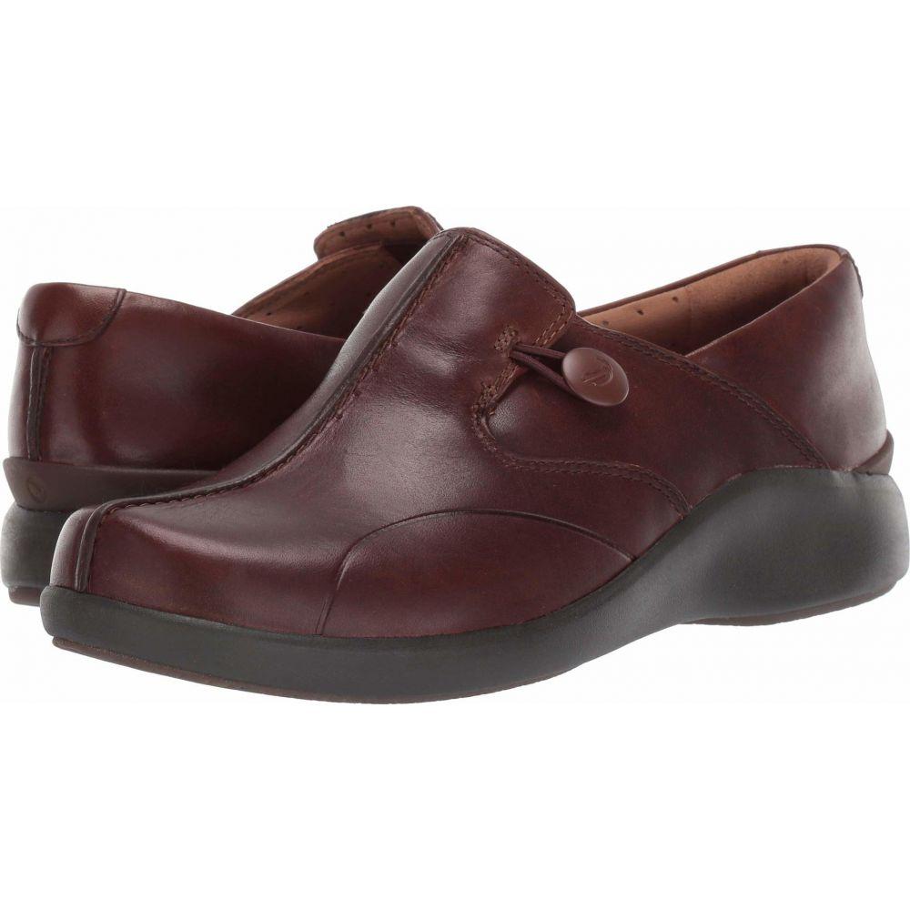 クラークス Clarks レディース スニーカー シューズ・靴【Un Loop 2 Walk】Dark Tan Leather