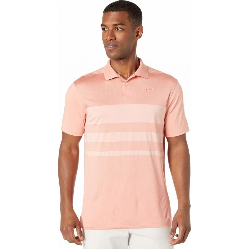 ナイキ Nike Golf メンズ ポロシャツ トップス【Dry Vapor Polo Stripe】Pink Quartz/Coral Stardust/Pink Quartz
