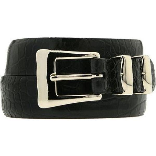 トリノレザー Torino Leather Co. メンズ ベルト 【32-25MM Alligator Embossed Calf】Black
