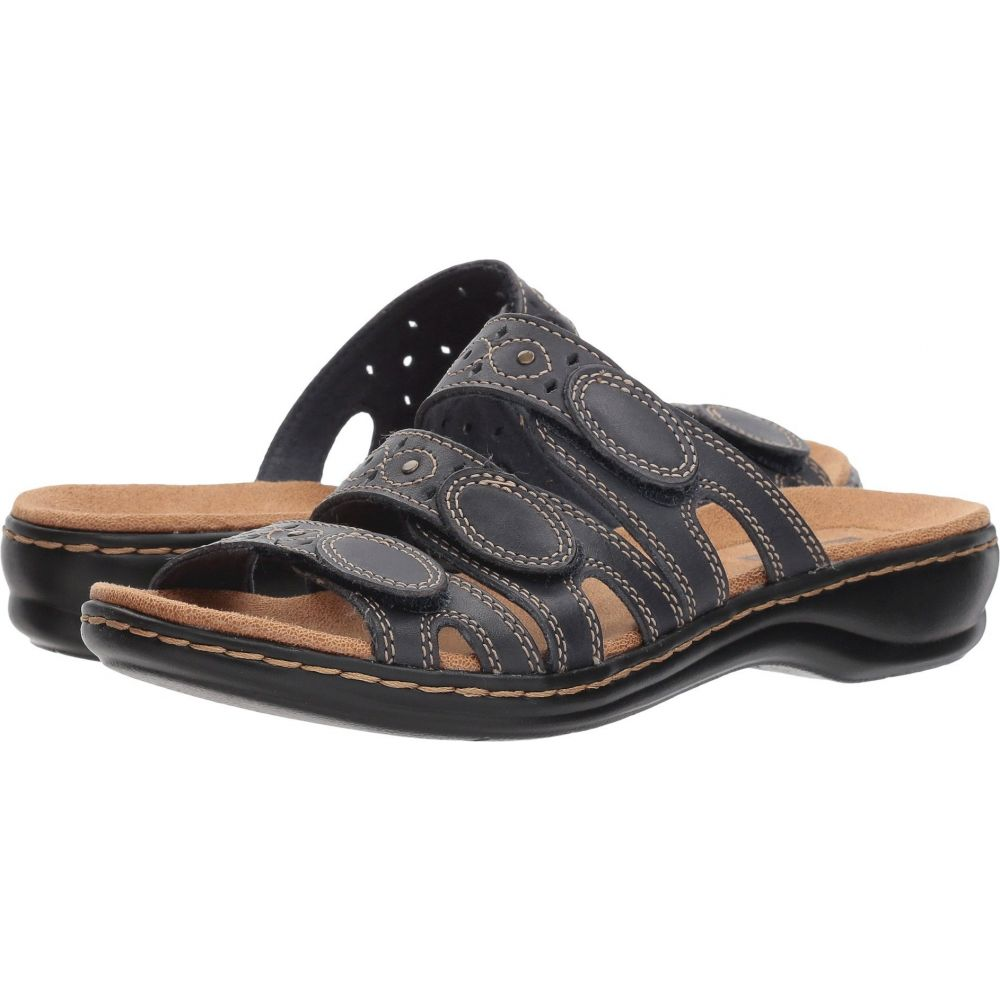 クラークス Clarks レディース サンダル・ミュール シューズ・靴【Leisa Cacti Q】Navy Leather