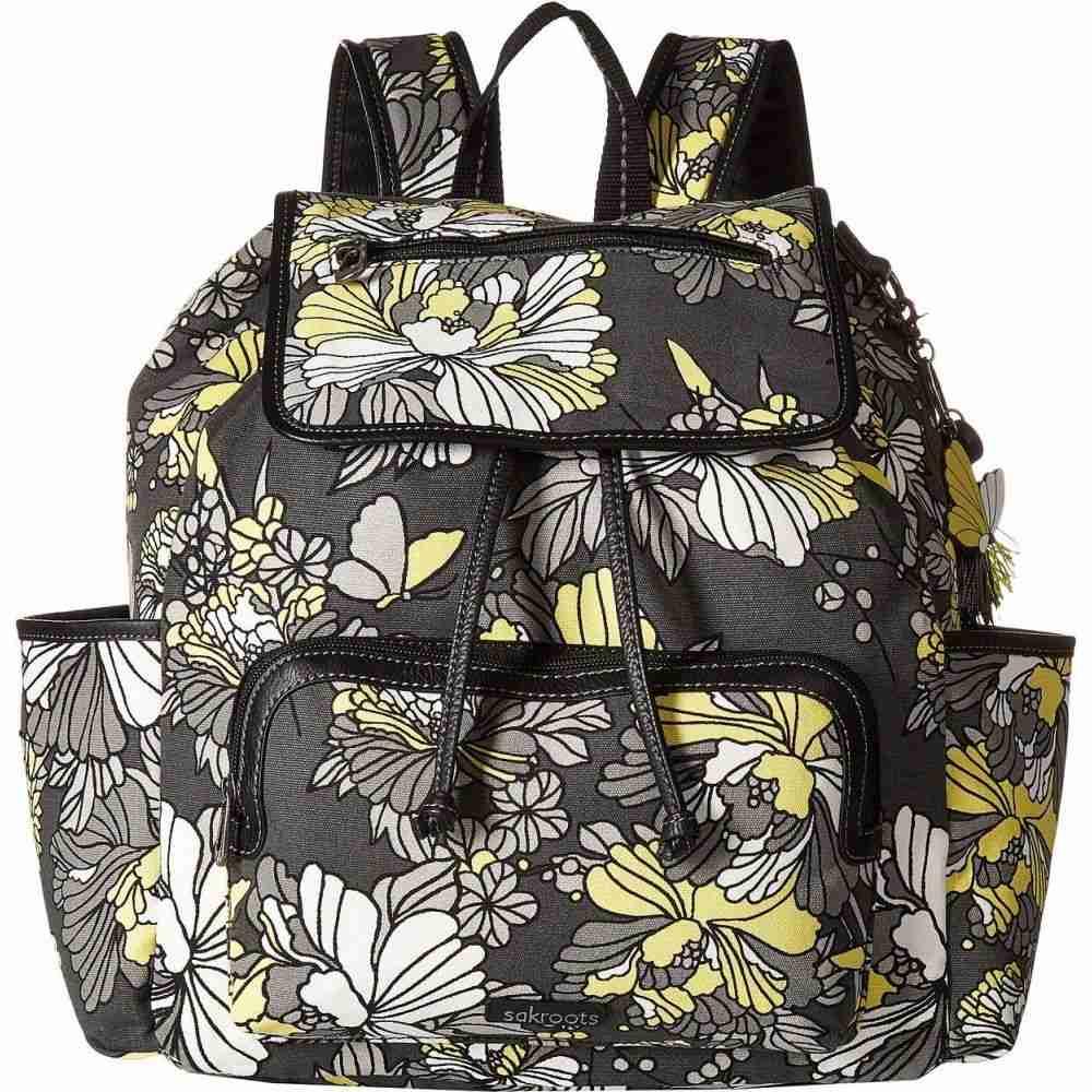 サックルーツ Sakroots レディース バックパック・リュック バッグ【Fleetwood Backpack】Slate Flower Blossoms