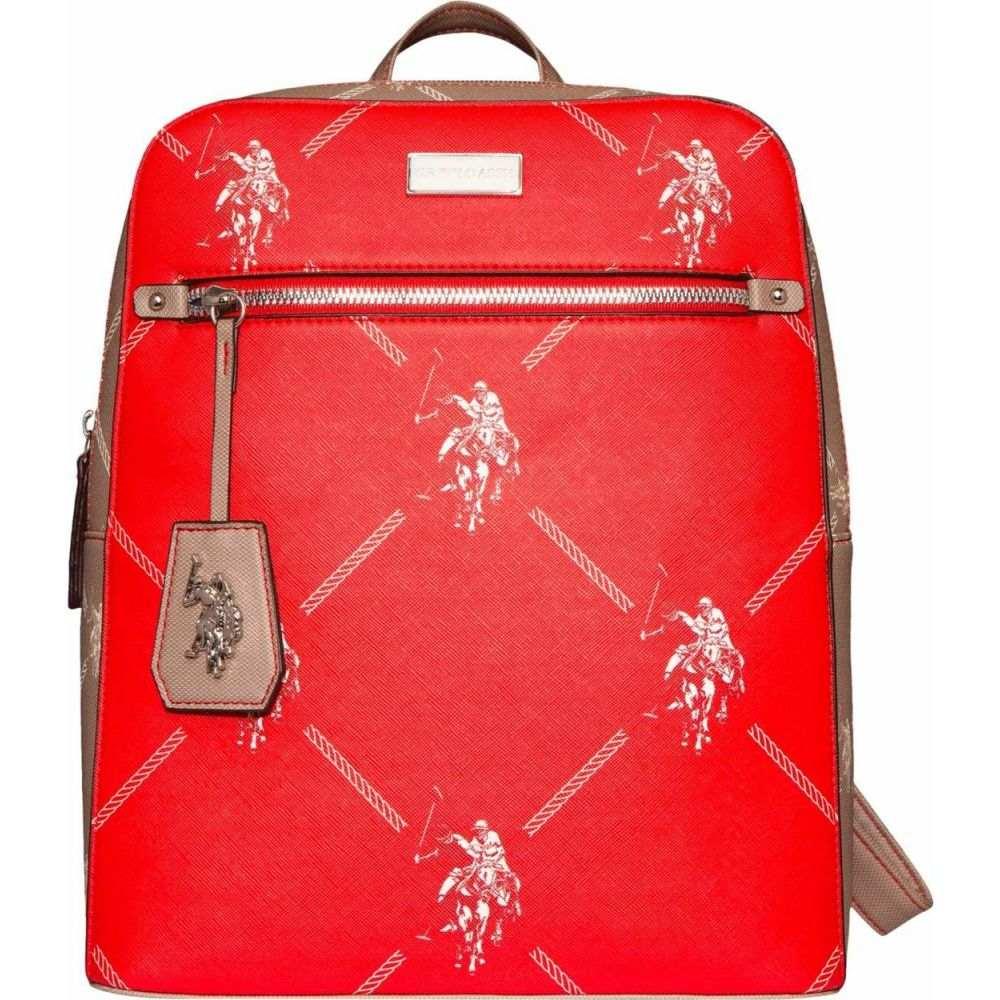 ユーエスポロアッスン U.S. POLO ASSN. ユニセックス バックパック・リュック バッグ【Color-Block Signature Backpack】Red