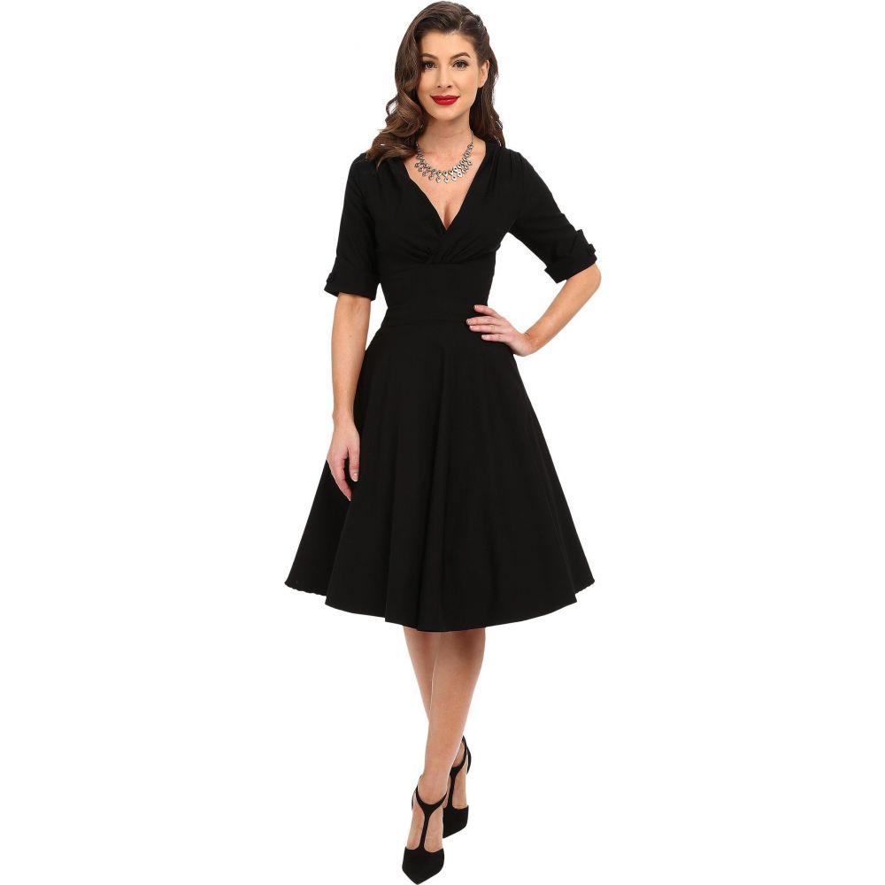 ユニークヴィンテージ Unique Vintage レディース ワンピース 七分袖 ワンピース・ドレス【3/4 Sleeve Delores Swing Dress】Black