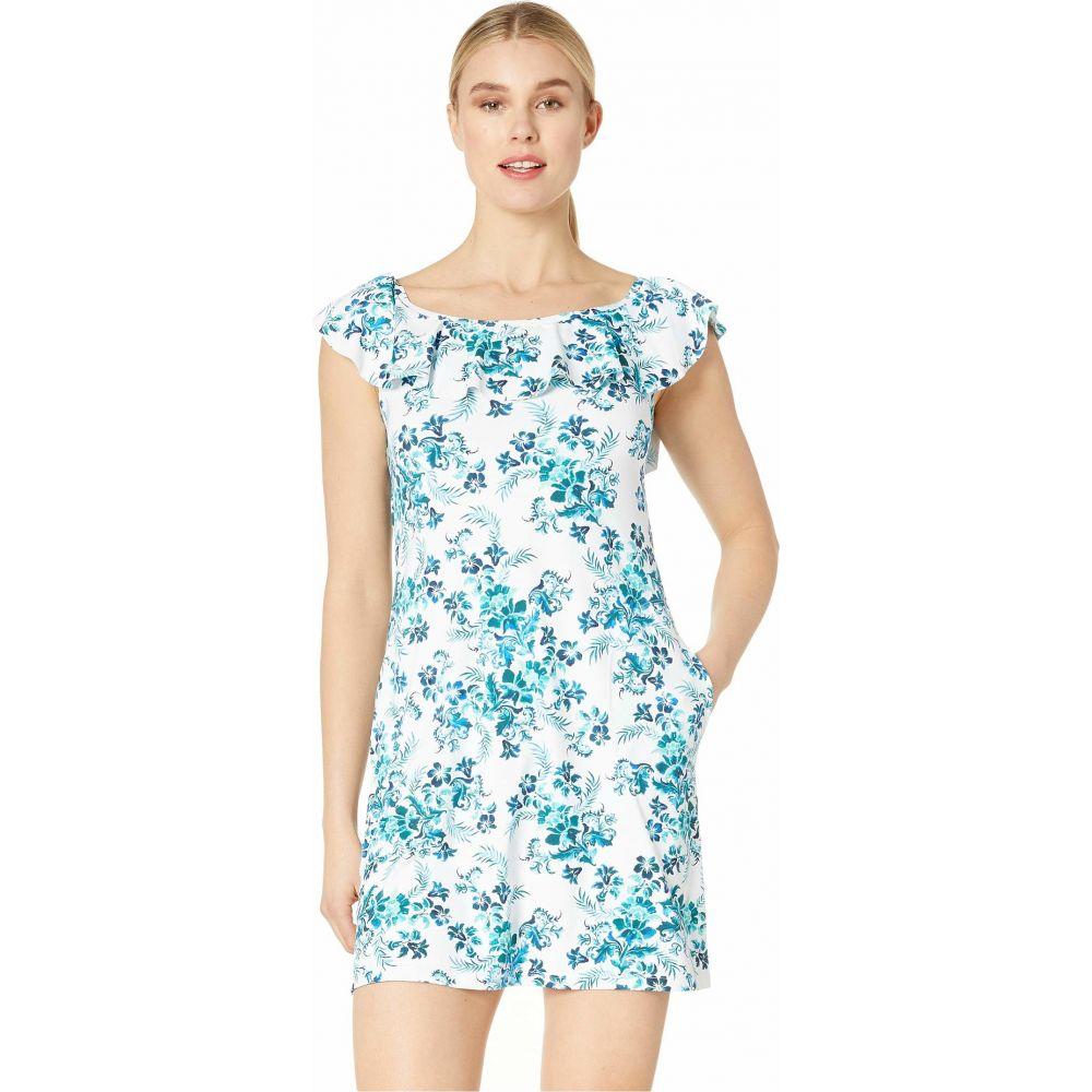 トミー バハマ Tommy Bahama レディース ワンピース ワンピース・ドレス【Floral Isles Over the Shoulder Spa Dress】Caledon Sea