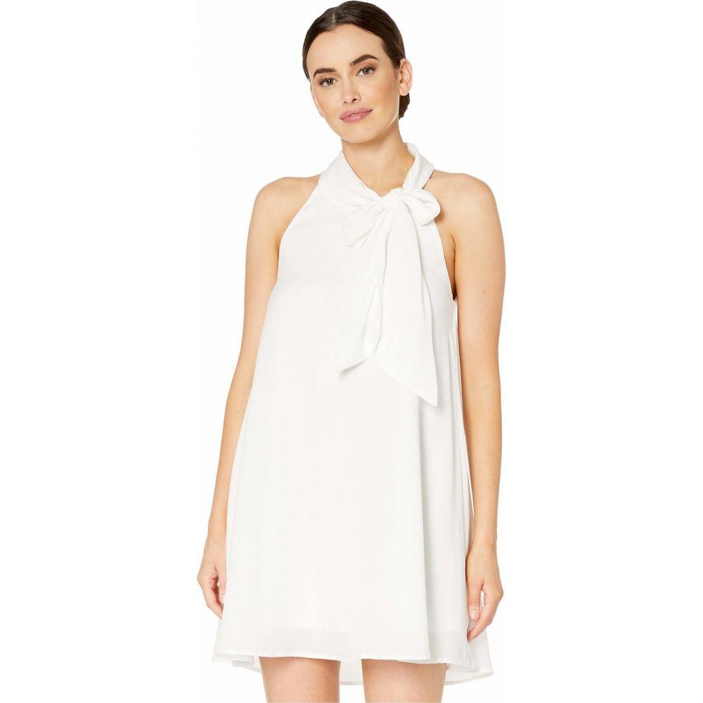 アメリカンローズ American Rose レディース ワンピース ノースリーブ ワンピース・ドレス【Willow Sleeveless Dress with Neck Tie】White